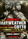 """FLOYD """"MONEY"""" MAYWEATHER VS. MIGUEL COTTO ONSITE OFFICIAL PROGRAM 5/5/12 RARE"""