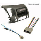 Civic Car Stereo CD Player Radio Install Dash Mount Kit Combo Earth Taupe Face