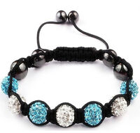 Shamballa Friendship Bracelet Genuine Crystal Disco Balls 11 Beads Colour Choice