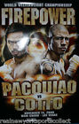 MANNY PACQUIAO VS. MIGUEL COTTO OFFICIAL ON-SITE POSTER, 11/14/09 RARE