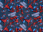 1 Yard Quilt Cotton Fabric- Springs Marvel Spiderman on Blue