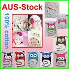 New 100% Cotton Cute Baby Girls Boys Animal Owl Crochet Beanie Hat PHOTO prop