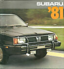 1981 SUBARU Brochure / Catalog: BRAT,DL,GL,4WD,STATION WAGON,HATCHBACK,