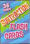 subtraction flash cards flashcards 36 cards new
