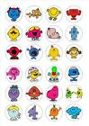 24 Edible cake toppers decorations Mr Men mixed little miss
