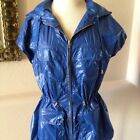 NWT Auth Tory Burch Razor Blue Windbreaker Vest Jacket XS