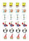 24 edible wafer rice paper cake toppers - spongebob square pants d3