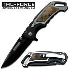 "Tac-Force Assisted Opening ""Squire"" Folder Knife / Black & Camo YC-615C **NEW**"