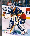 Grant Fuhr St Louis Blues Autographed action 8x10 w