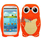 Orange Lovely Cute Turtle Silicone Cover Case For Samsung Galaxy S3 i9300