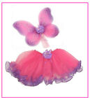 2pc HotPink Purple Wings Tutu Dance DressUp Halloween Costume Toddler Girl 2T-7T