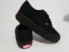 VANS AUTHENTIC ALL BLACK  FOR TODDLERS (little kids) NEW IN BOX VARIOUS SIZES