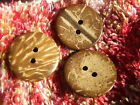 15 Natural Coconut Shell Buttons 20mm Round Exotic Islander Stylish Quick UK P&P