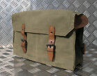 Genuine French Army Vintage Leather Lined Satchel / Side Bag - Grade 1