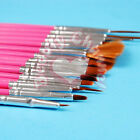 15pcs Pink Nail Art Design Gel Painting Drawing Dotting Pen Polish Brush Set