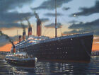 TITANIC & NOMADIC AT CHERBOURG - Atmospheric Print by Stuart Williamson