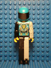 LEGO - One Technic Figure Dark Turquoise Mechanical Arm w/Helmet & Black Visor