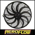"""AEROFLOW 12"""" CURVED BLADE 12V ELECTRIC REVERSABLE COOLING THERMO FAN AF49-1001"""