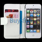 White Stylish Card Slot Wallet Leather Case Cover For Apple iPhone 5 5G