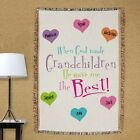 Personalized Tapestry Throw Blanket for Grandma or Mom God Gave Me the Best