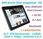 9,7 Zoll Tablet PC SuperPad SIM-Karte Slot 3G Android 4.0 Multitouch 1.5GHz 16GB
