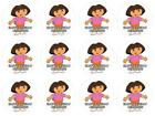 12 PERSONALISED Dora Edible Image Cupcake Toppers / Decorations - Icing