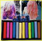 Hair Temporary Color Dye Kit Soft Pastel Salon Chalk Bug Rub Soft Pack 12pcs