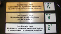 LICENSEE SIGN, ALL LICENCE TYPES, PUB, BAR, RESTAURANT