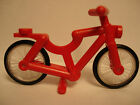 NEW LEGO Red Bicycle Complete Assembly With Two Wheels