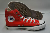 CONVERSE CHUCK TAYLOR  RED/WHITE HI TOP CANVAS NEW IN BOX SIZE'S 4 TO 12