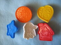 Sanrio Hello Kitty Cookie Cutters Set of 5 Vintage Used 1976