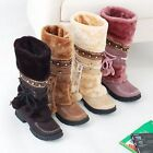 New Fashion Women's Girls Winter Warm Snow Boots Shoes 4 colors