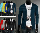 8 colors 4 size Men's Slim Fit V-neck Long Sleeves Knitwear Cardigan Sweater C38