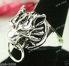 Cool Ring For Men Lodumani style Wolf Head Tibetan silver Ring US Size 7/8/10/11