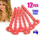 NEW 12 PCS Pink Sponge Soft Hair Curler Spiral Curls Roller DIY Salon Tool