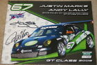 2009 TRG Racing #67 Porsche 997 GT3 Cup signed Grand Am postcard Andy Lally
