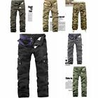 Men's Military Cargo Pants Army Fatigue Camouflage Camo Combat Hip Hop Trousers