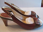 "COLE HAAN NIKE AIR WOODBURY SLINGBACK SHOES - SIZE 8 1/2 MEDIUM - 2 1/2"" HEEL"