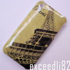 New Paris Eiffel Tower Pattern Hard Back Cover Case For iPhone 3 3G 3GS #T2