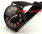 E937,Parnis 46mm Pvd Case Black Dial 6497 Hand Winding Mens Watch