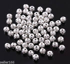 500 Pcs 4mm Silver Plated Loose Spacer Beads Charms Jewelry making findings