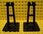 LEGO LEGOS - Set of 2 Supports 4 x 4 x 5 Stanchion BLACK