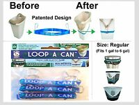 """(3) LOOP-A-CAN Trash Can Elastic band -Size: Regular 22"""" Fits 1 gal. to 6 gal."""