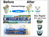 """(2) LOOP-A-CAN Trash Can Elastic band -Size: Regular 22"""" Fits 1 gal. to 6 gal."""
