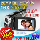 16GB 20MP 720P HD Digital Video Camera 3.0 inch TFT LCD Camcorder DV Anti-shake