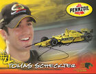2005 Tomas Scheckter signed Pennzoil Chevy Indy Car postcard