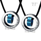 T&T Two-Tone Stainless Steel Love Pendant Necklace For Couple Free Two Chains