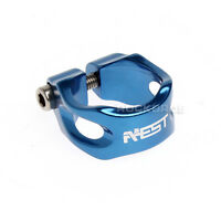 Aest Road Bike Blue MTB Bicycle Saddle Seat Post Seatpost Clamp 34.9mm New