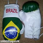 Brazil Flag Mini Hanging Boxing Boxer Gloves - Ideal for the Car *