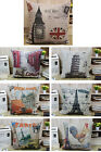 City Scenery New York Paris London Big Ben pattern cushion cover pillow case,17""